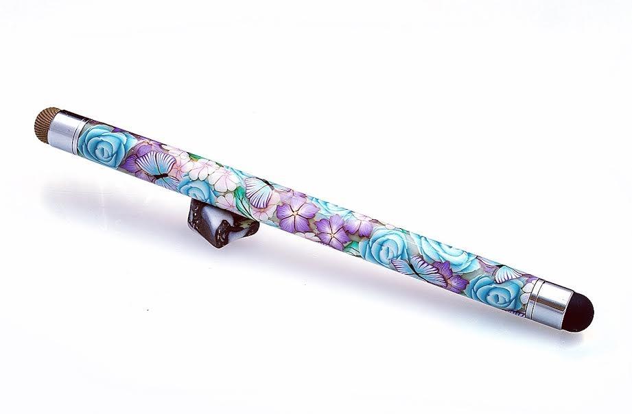 Turquoise Rose Baton Stylus