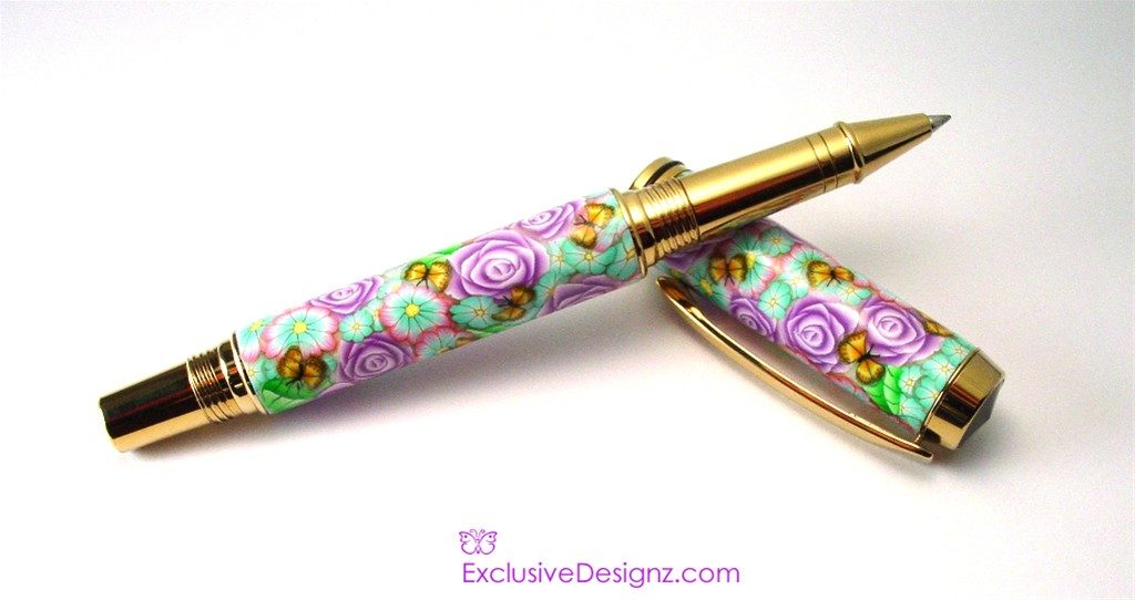 Light Purple Floral Jr.Gent Millefiori Pen
