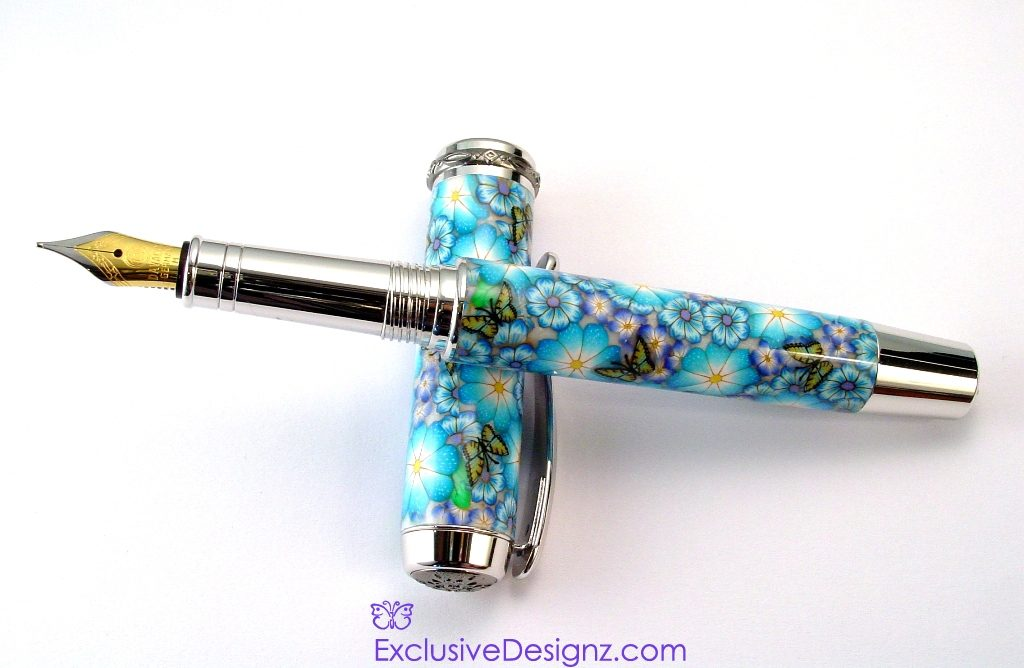 Blue Daisy Millefiori Fountain Pen